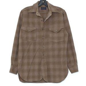 Pendleton Mens Shirt WOOL Long Sleeve Button Up C1